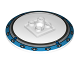 Part No: 44375bpb03  Name: Dish 6 x 6 Inverted (Radar) - Solid Studs with Medium Azure Border Pattern