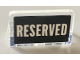 Part No: 4865pb083  Name: Panel 1 x 2 x 1 with White 'RESERVED' on Black Background Pattern (Sticker) - Set 21319