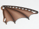 Part No: 54255pb01  Name: Plastic Triangle 6 x 12 Scalloped Wing with Leather and Stick Pattern