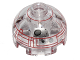 Part No: 553pb022  Name: Brick, Round 2 x 2 Dome Top with Red Rectangle Borders Pattern (Imperial Astromech Droid)