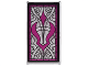 Part No: 57895pb034  Name: Glass for Window 1 x 4 x 6 with Stained Glass Window with Magenta Curved Shadow Symbol Pattern (Sticker) - Set 41179