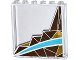 Part No: 59349pb100L  Name: Panel 1 x 6 x 5 with Silver and Gold Triangle Mosaic and White and Medium Azure Curved Stripes Pattern Left Side (Sticker) - Set 41106