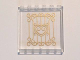 Part No: 59349pb110  Name: Panel 1 x 6 x 5 with Gold Swirls and Heart Pattern on Inside (Sticker) - Set 41101