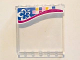 Part No: 59349pb113  Name: Panel 1 x 6 x 5 with White and Blue Flower and Multi-Colored Squares on Outside Pattern (Stickers) - Set 41058