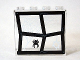 Part No: 60581pb050  Name: Panel 1 x 4 x 3 with Side Supports - Hollow Studs with Window Frame Bent with Black Spider and White Web Pattern (Sticker 7) - Set 75904
