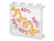 Part No: 60581pb085  Name: Panel 1 x 4 x 3 with Side Supports - Hollow Studs with Sign with Yellow Asian Characters and Red Percentage Rates Pattern (Sticker) - Set 70620
