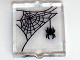 Part No: 60601pb001  Name: Glass for Window 1 x 2 x 2 with Spider and Web in Upper Left Corner Pattern (Sticker) - Set 10228