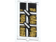 Part No: 60602pb02  Name: Glass for Window 1 x 2 x 3 with Muntins and Stacked Gold Ingots Pattern (Sticker) - Set 79109