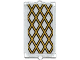 Part No: 60602pb04  Name: Glass for Window 1 x 2 x 3 with Gold Lattice Pattern (Sticker) - Set 70413