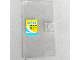 Part No: 60616pb033  Name: Door 1 x 4 x 6 with Stud Handle with 'OPEN', Wave and Black Rectangles on Yellow Sign Pattern (Sticker) - Set 41315