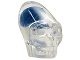 Part No: 62709pb01  Name: Minifigure, Head Modified Skull Crystal with Dark Blue Brain