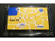 Part No: 64453pb001  Name: Windscreen 1 x 6 x 3 with City Map Pattern (Sticker) - Set 8404