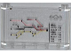 Part No: 64453pb006  Name: Windscreen 1 x 6 x 3 with Train Map, Train Schedule with 'BERLIN 11:03' and Train Logo Pattern (Sticker) - Set 7937