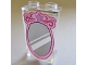 Part No: 87544pb030  Name: Panel 1 x 2 x 3 with Side Supports - Hollow Studs with Pink Outline Mirror Pattern (10723)
