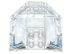 Part No: 87606pb04  Name: Windscreen 6 x 6 x 2 Canopy with Frosted Windows and 'ZANE' Pattern (Stickers) - Set 70588