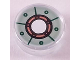 Part No: 98138pb035  Name: Tile, Round 1 x 1 with Sand Green Iron Man Chest Reactor Pattern