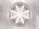 Part No: 98138pb105  Name: Tile, Round 1 x 1 with White Snowflake with 8 Points Pattern