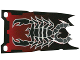 Part No: bb0181b  Name: Plastic Flag 4 x 9 with Knights' Kingdom II Scorpion Pattern, Single Short Tatters Style