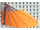 Part No: x66px15  Name: Plastic Triangle 6 x 12 Wing with Brown Spars and Orange Cloth Pattern