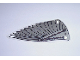 Part No: x66px2  Name: Plastic Triangle 6 x 12 Wing with Gray Feathers Pattern