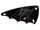 Part No: x66px4  Name: Plastic Triangle 6 x 12 Wing with Spider Web Pattern