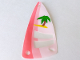 Part No: x66px9  Name: Plastic Triangle 6 x 12 Sail with Palm Tree Pattern