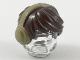 Part No: 10166pb03  Name: Minifigure, Hair Short Tousled with Dark Tan Earmuffs Pattern