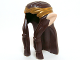 Part No: 13765pb02  Name: Minifigure, Hair Long Wavy with Braid, Gold Headband and Light Nougat Elf Ears Pattern