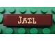 Part No: 2431pb171  Name: Tile 1 x 4 with 'JAIL' Pattern (Sticker) - Set 7594