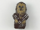 Part No: 36038pb01  Name: Minifigure, Head Modified SW Wookiee with Double Bandolier and Pouch, Chewbacca with Dark Tan Face Fur and Teeth Pattern