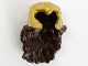 Part No: 68406pb01  Name: Minifigure, Hair Combo, Hair with Hat, Long and Wavy with Pearl Gold Helmet with Forehead and Cheek Protectors Pattern