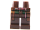 Part No: 970c00pb0109  Name: Hips and Legs with Reddish Brown Coattails and Red, White and Dark Green Pattern