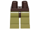 Part No: 970c155  Name: Minifigure, Legs with Hips - Olive Green Legs
