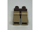 Part No: 970c69  Name: Minifigure, Legs with Hips - Dark Tan Legs