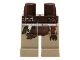 Part No: 970c69pb08  Name: Hips and Dark Tan Legs with Pouch and Sash Pattern (Tonto)