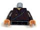 Part No: 973pb0597c01  Name: Torso Indiana Jones Tattered Shirt with Thin Sash Pattern / Dark Brown Arms / Flesh Hands