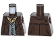 Part No: 973pb1427  Name: Torso Jacket with Dark Bluish Gray Vest and Dark Tan Ascot Pattern