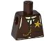 Part No: 973pb1872  Name: Torso Western Sheriff Star Badge, Vest, Gold Chain, Black Tie Pattern