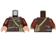 Part No: 973pb2557c01  Name: Torso SW Jacket with Dark Bluish Gray Scarf and Dark Tan Pocket Device Pattern (Rebel Trooper) / Reddish Brown Arms / Light Flesh Hands