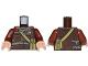 Part No: 973pb2557c01  Name: Torso SW Jacket with Dark Bluish Gray Scarf and Dark Tan Pocket Device Pattern (Rebel Trooper) / Reddish Brown Arms / Light Nougat Hands