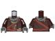 Part No: 973pb3690c01  Name: Torso SW Robe, Dark Tan Undershirt, Reddish Brown Sash, Dark Bluish Gray Scarf and Necklace Pattern / Dark Brown Arms / Dark Bluish Gray Hands