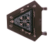 Part No: x1435pb014  Name: Flag 5 x 6 Hexagonal with Copper Fan and Rivets Pattern (Sticker) - Set 70226