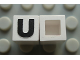 Part No: Mx1011Apb21  Name: Modulex Tile 1 x 1 with Black 'U' Pattern (no internal lining)