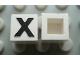 Part No: Mx1011Apb23  Name: Modulex Tile 1 x 1 with Black 'X' Pattern (no internal lining)