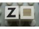 Part No: Mx1011Apb25  Name: Modulex Tile 1 x 1 with Black 'Z' Pattern (no internal lining)