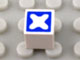 Part No: Mx1011Apb54  Name: Modulex Tile 1 x 1 with Blue Cross Diagonal Pattern