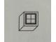Part No: Mx1011Apb58  Name: Modulex Tile 1 x 1 with Black Square Crossed Perpendicular Pattern