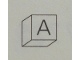 Part No: Mx1011Apb66  Name: Modulex Tile 1 x 1 with Dark Gray 'A' Pattern (Thin Font)