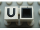 Part No: Mx1011Cpb21  Name: Modulex Tile 1 x 1 with Black 'U' Pattern (with black lining on top and sides)
