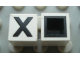Part No: Mx1011Cpb23  Name: Modulex Tile 1 x 1 with Black 'X' Pattern (with black lining on top and sides)